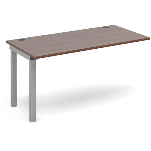 Connex add on unit single 1400mm x 800mm - silver frame, walnut top