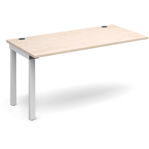 Connex add on unit single 1400mm x 800mm - white frame, maple top