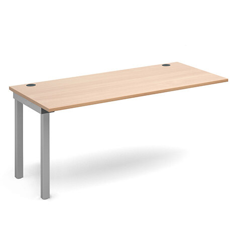Connex add on unit single 1600mm x 800mm - silver frame, beech top