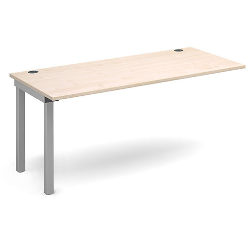 Connex add on unit single 1600mm x 800mm - silver frame, maple top