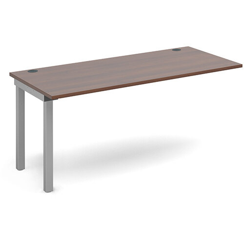 Connex add on unit single 1600mm x 800mm - silver frame, walnut top