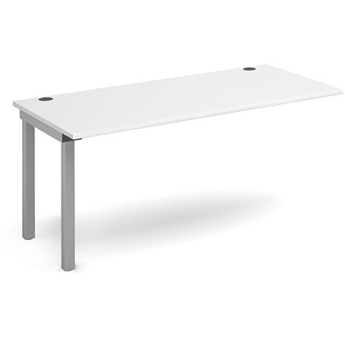 Connex add on unit single 1600mm x 800mm - silver frame, white top