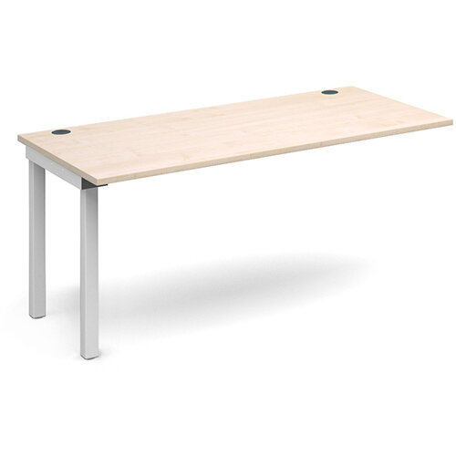 Connex add on unit single 1600mm x 800mm - white frame, maple top