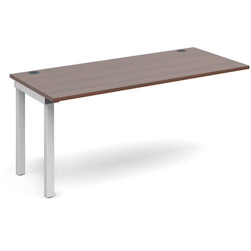 Connex add on unit single 1600mm x 800mm - white frame, walnut top