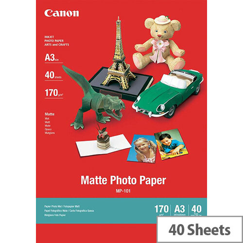Canon A3 Matte Photo Paper (Pack of 40)