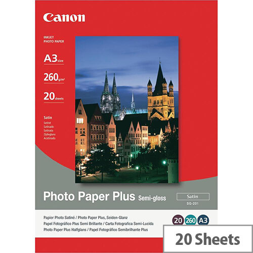 Canon A3 Semi-Gloss Photo Paper (Pack of 20)