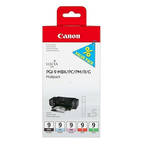 Canon PGI-9 5-Colour Multipack Ink Cartridges PGI-9MBK/PC/PM/R/G 1033B011
