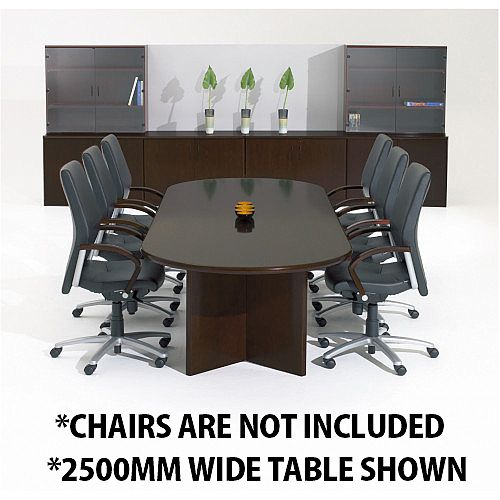 Corniche Executive Cherry Walnut Veneer Boardroom &Conference Room Table 10 - 12 Seater W3000xD1100xH720mm