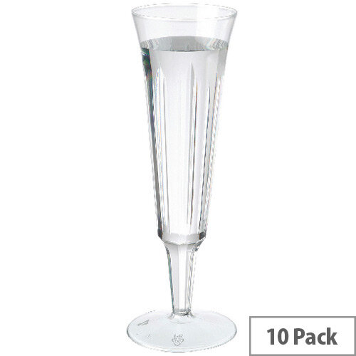 Plastic Champagne Disposable Glasses 125ml Clear [Pack of 10] CPDC7025A