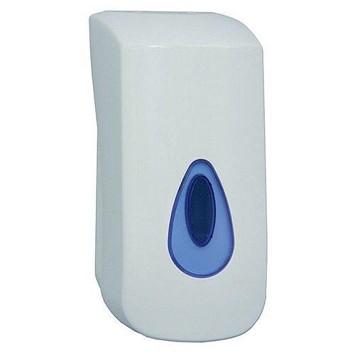 2Work Hand Soap Dispenser White Bulk Fill Capacity 900ml (Pack 1) KDDBC32
