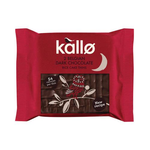 Kallo Dark Chocolate Rice Cake Thin Pack of 21 0401167