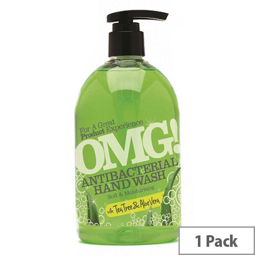 Omg Aloe Vera Liquid Hand Soap Antibacterial Hand Wash 500ml (Pack 1)