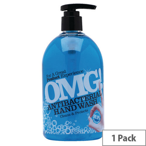 OMG Antibacterial Liquid Hand Soap Hand Wash 500ml (Pack 1)
