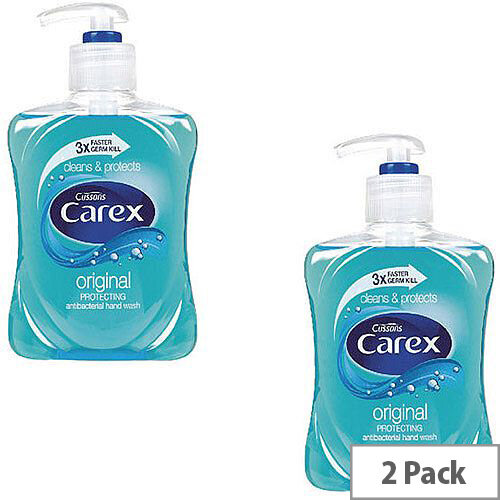 Carex Anti-Bacterial Original Handwash Liquid Soap Hand Wash 250ml (Pack 2)