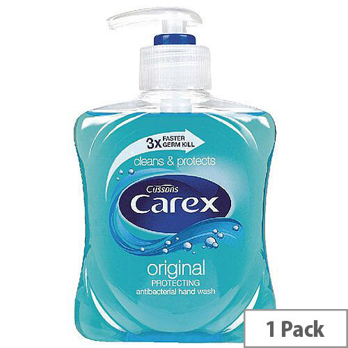Carex Antibacterial Original Liquid Hand Wash Soap 250ml (Pack of 1) 0604025
