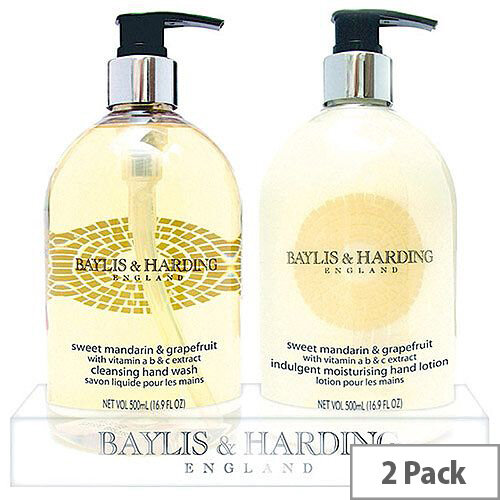 Baylis &Harding Mandarin Grapefruit Tray Hand Wash &Hand Lotion Cream Set (Pack 2) VBHBM2BTLMG