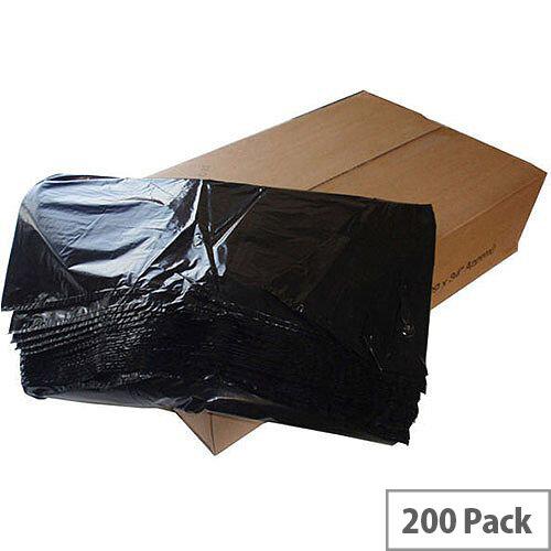 The Green Sack 80L Heavy Duty Black  Refuse Sack Pack 200 KMAXHD
