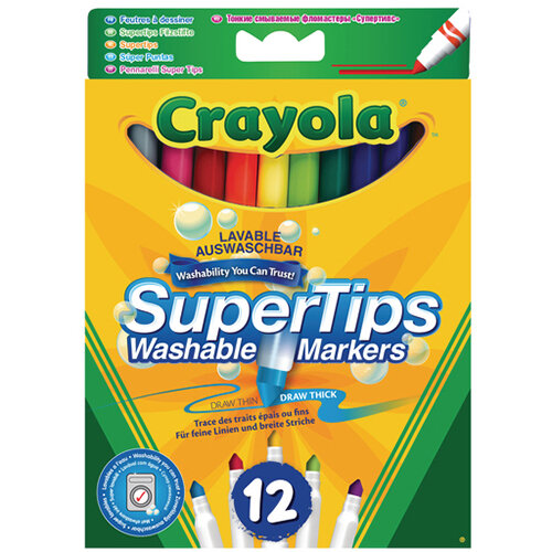 Crayola Bright Supertips Pack of 72 3.7509