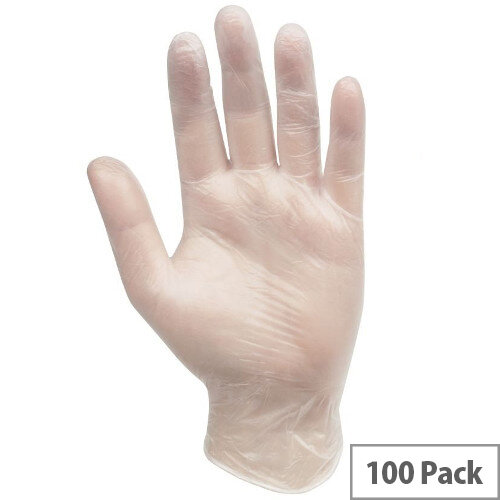 Professional Hygiene Vinyl Powder Free Clear Gloves Large 100