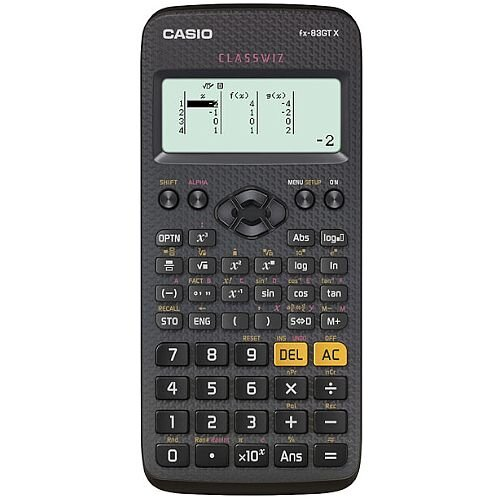 Casio FX-83GTXBLACK - Scientific Calculator - Schools &Exams Approved - 276 Advanced Functions, Solar and Battery Powered, Protective Slide-on, Large Textbook Display - Black