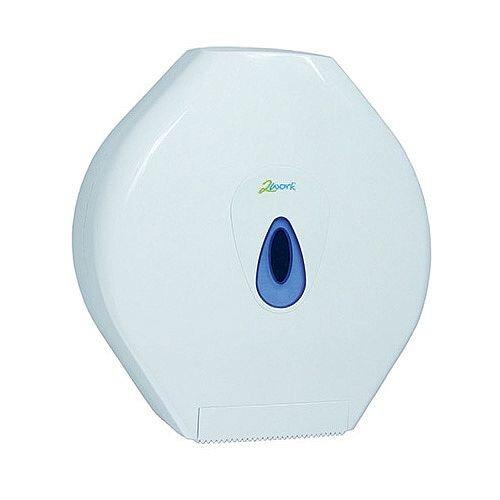 2Work Standard Jumbo Toilet Roll Plastic Dispenser White DS925E