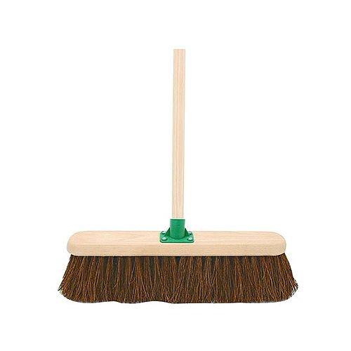 Stiff Bristled Broom With Handle 18 inch Bassine Broom