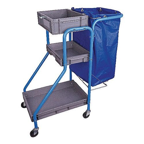 Port-A Cleaning Cart Cleaners Trolley 3 Structural 100L Waste Bag MWPCTO01L