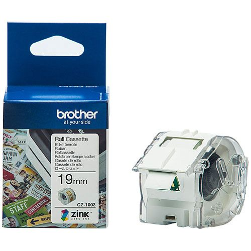 Brother CZ1003 Full colour Continuous Paper Tape 19mm wide