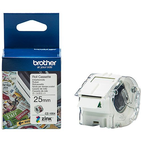 Brother CZ1004 Full colour Continuous Paper Tape 25mm wide