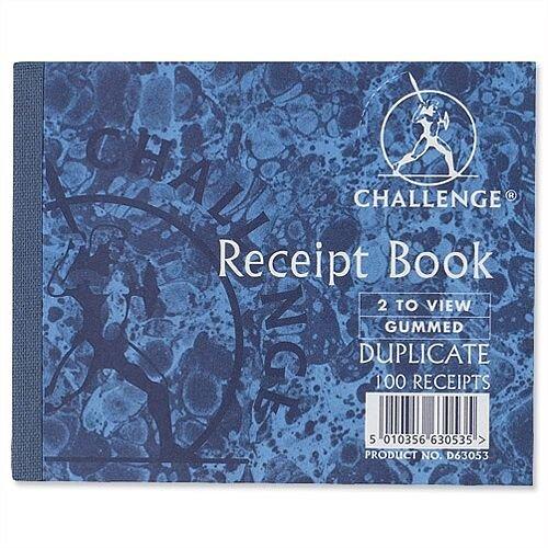 Challenge Duplicate Receipt Book105x130mm Pack 5