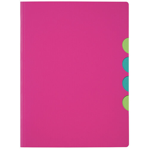Durable Pagna 5-part Folder A4 Dark Pink Pack of 10 4780334