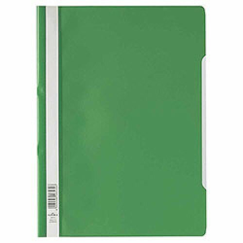 Clearview Flat File Folder A4 Green Pack of 50 Durable 2573/05