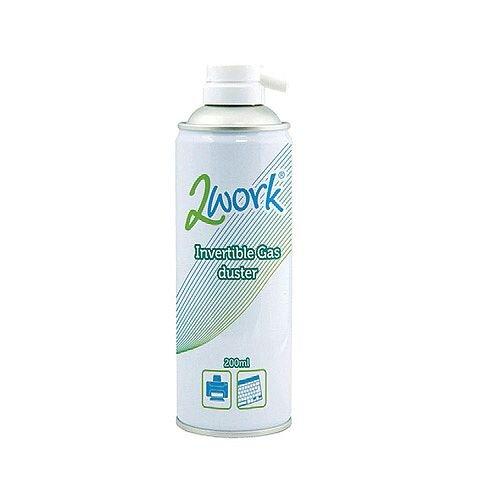 2Work Invertible Spray Computer Air Duster 200ml DB50462