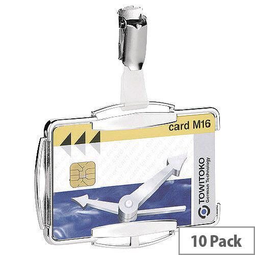 Durable RFID Secure Card Holder Mono Silver Pack of 10 8901