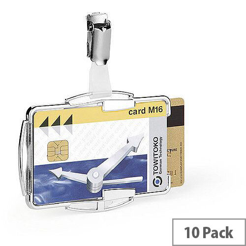 Durable RFID Card Holder Duo Pack of 10 8902