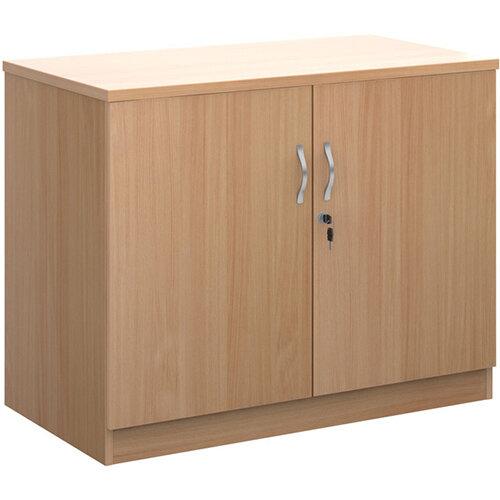 Systems double door cupboard 800mm high - beech