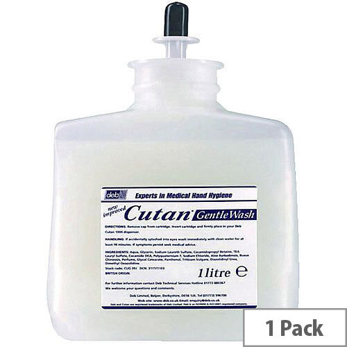 Deb Cutan Wash Lotion Soap Peach 1Litre Refill Cartridge (Pack 1)