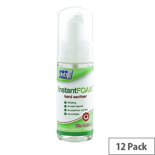 DEB Instant Foam Hand Sanitiser 47ml Pump (Pack 12) DIS47ML