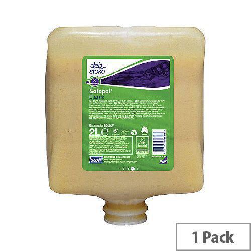 Deb Solopol Classic Hand Wash Cleanser 2 Litre Refill Cartridge SOL2LT