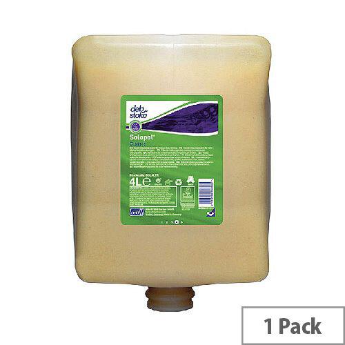 Deb Solopol Classic Hand Wash Cleanser 4 Litre Refill Cartridge SOL2LT