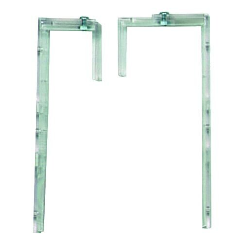 Deflecto Lit Wallrack Bracket Clear Pair