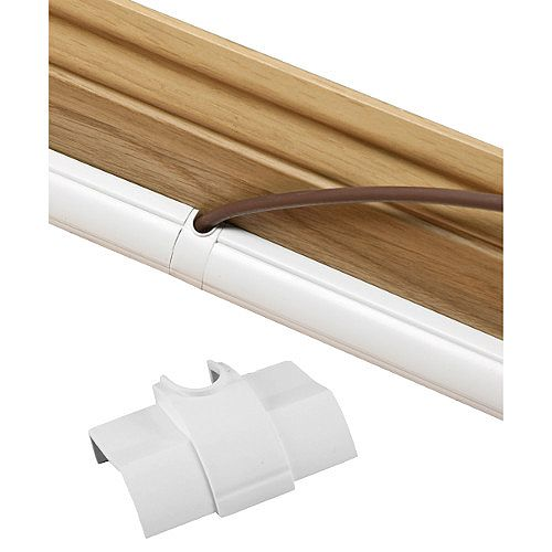 Smooth Fit D-Line Cable Inlet Coupler 22mm x 22mm - White