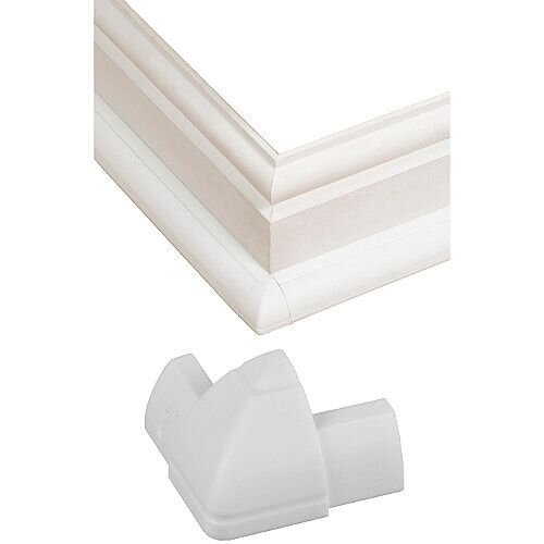 Smooth Fit D-Line External Bend ABS Plastic 22mm x 22mm - White