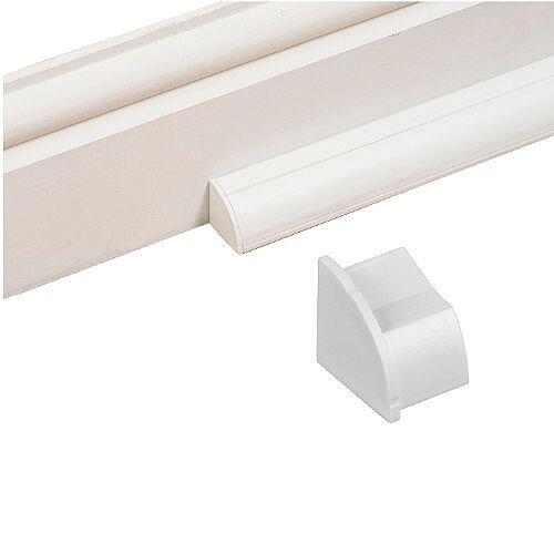 Smooth Fit Left Hand End Cap 22mm x 22mm - White