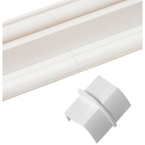 Smooth Fit D-Line Plain Coupler 22mm x 22mm - White