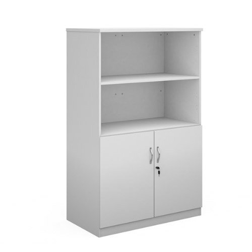 Deluxe Combination Unit With Open Top 1600Mm High With 3 Shelves - White