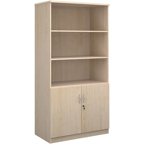 Deluxe combination unit with open top 2000mm high with 4 shelves - maple