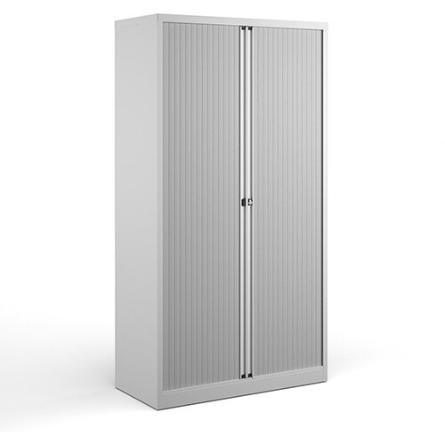 Bisley Systems Storage High Tambour Cupboard 1970mm High - White