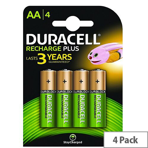 Duracell Rechargeable AA NiMH 1300mAh Batteries (Pack of 4)