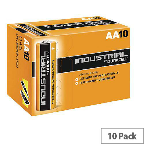 Duracell Industrial Battery Alkaline 1.5V AA Ref 5000832 Pack 10